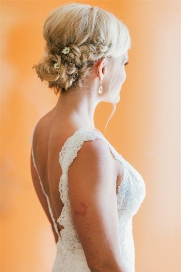 Những biến tấu tóc tết ngọt ngào cho cô dâu mới 4