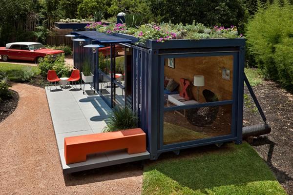 Loat nhà siêu đẹp làm từ container chở hàng 4