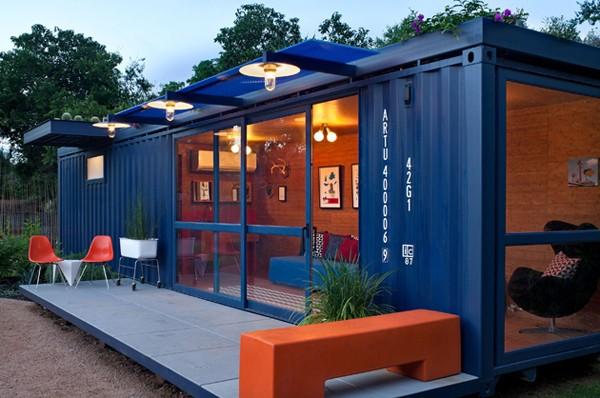 Loat nhà siêu đẹp làm từ container chở hàng 2